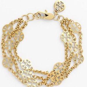 NIB Tory Burch Treble Gold Bracelet
